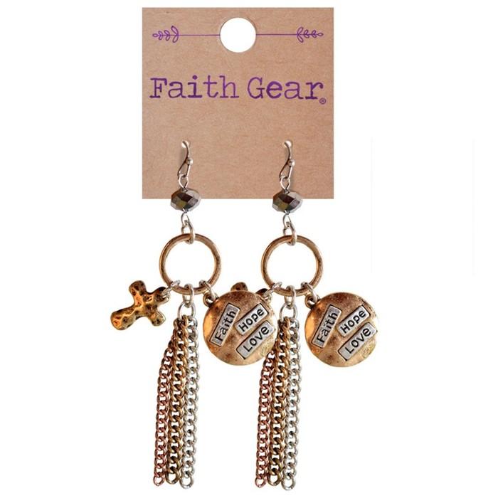 Faith Gear Women's Earrings - Faith Hope Love