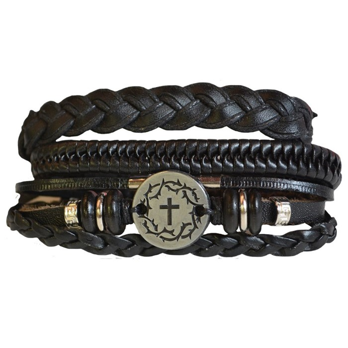 Faith Gear Guy's Bracelet - Crown Cross