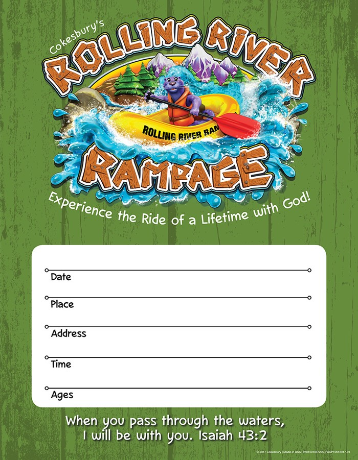 VBS 2018 Rolling River Rampage Small Promotional Poster