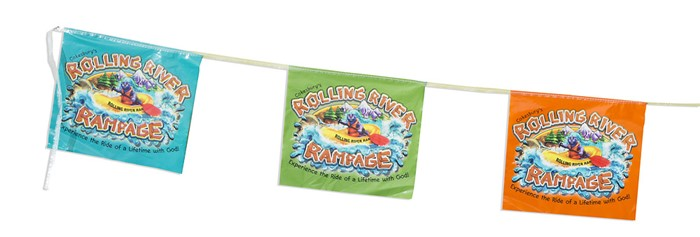 VBS 2018 Rolling River Rampage String Flags
