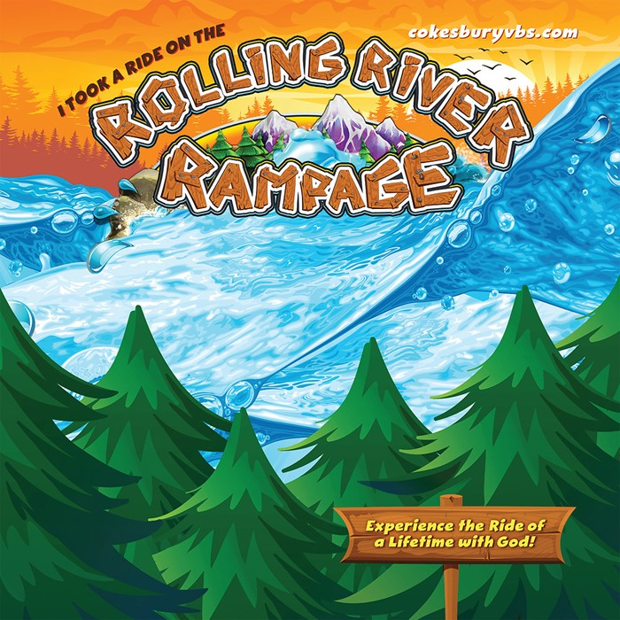 VBS 2018 Rolling River Rampage Photo Booth Backdrop