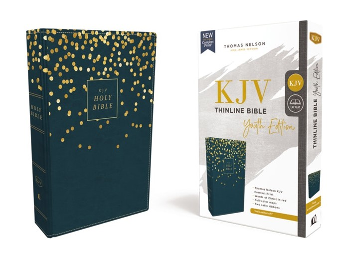 KJV Thinline Bible, Youth Edition, Blue, Red Letter