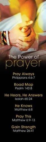 Power Of Prayer Bookmark (Pack of 25)