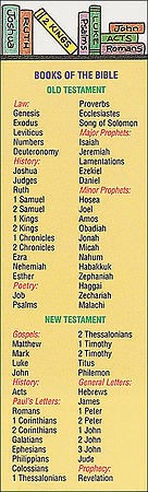Books Of The Bible Bookmark (Pack of 25)