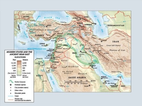 Modern States And The Ancient Near East Map