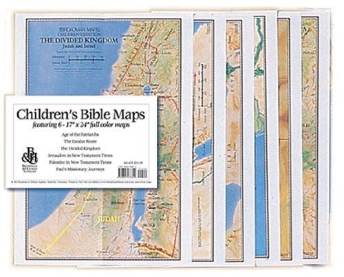 Children's Bible Maps, Set Of 6