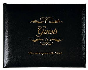 Guest Book, Black Bonded Leather