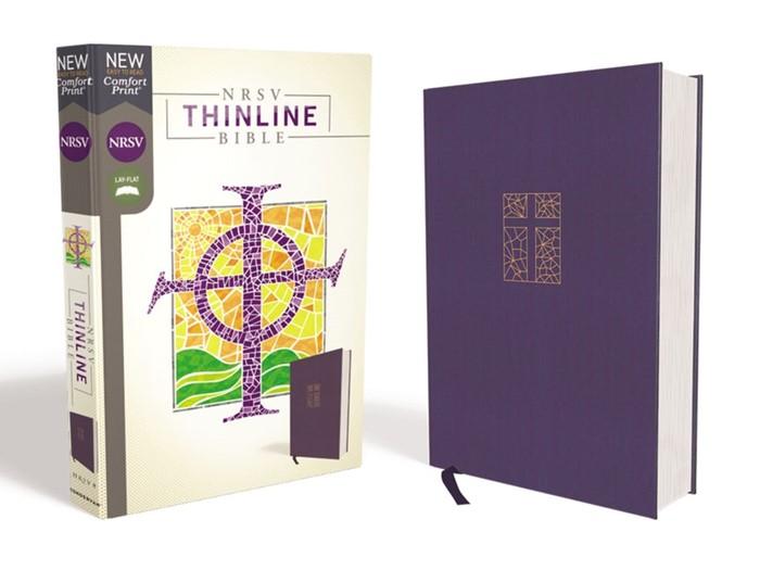 NRSV Thinline Bible, Navy, Comfort Print