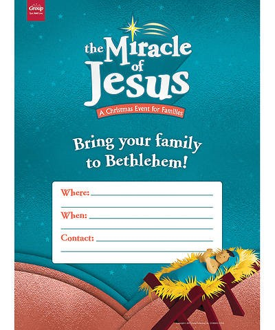 Miracle of Jesus Publicity Posters (pack of 5)