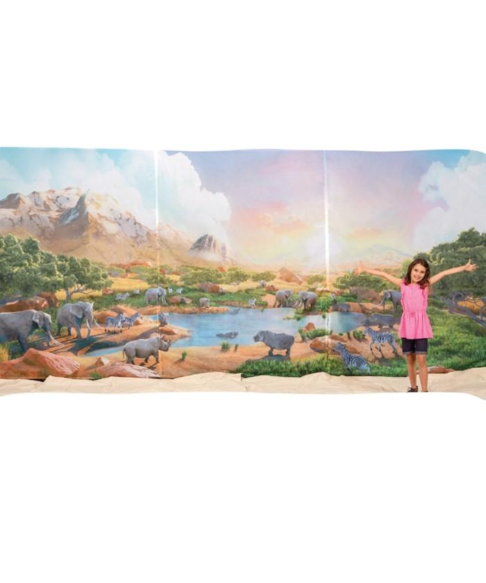 Roar Fabric Wall Hanging (set of 3 panels)