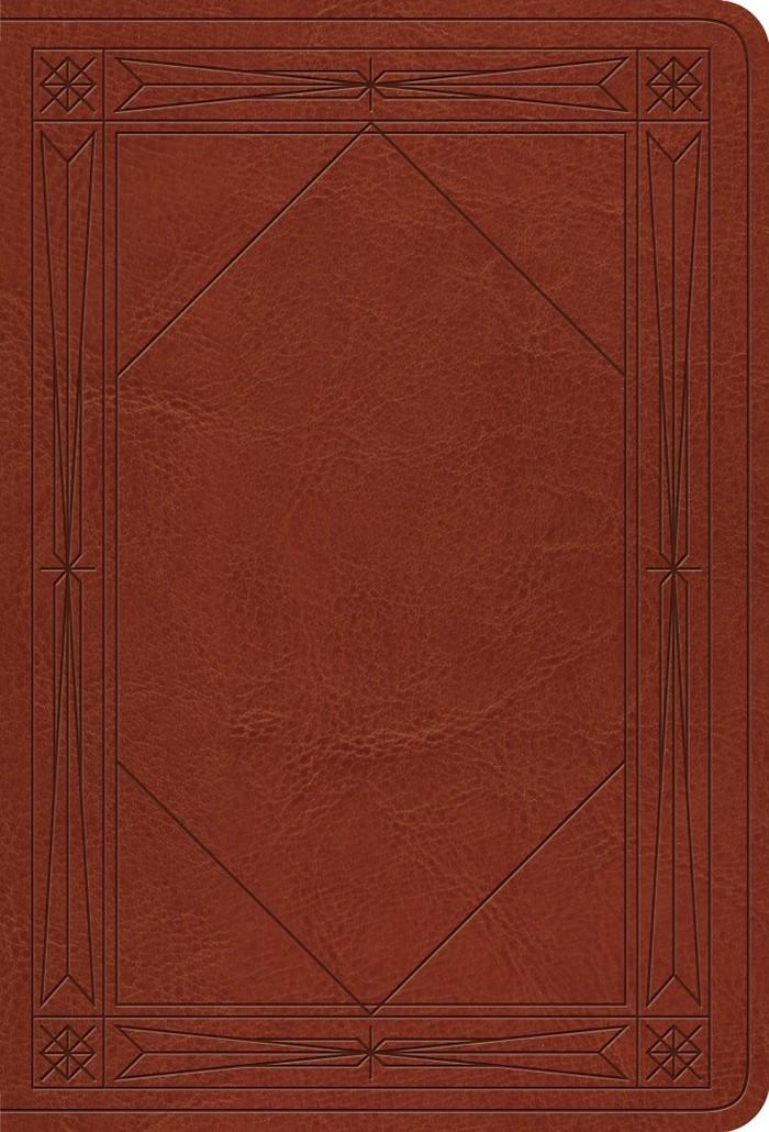 ESV Value Large Print Compact Bible, Tan, Window Design