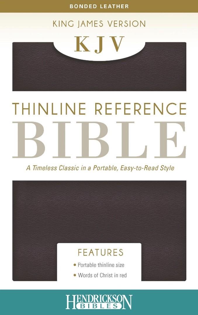 KJV Thinline Reference Bible, Burgundy