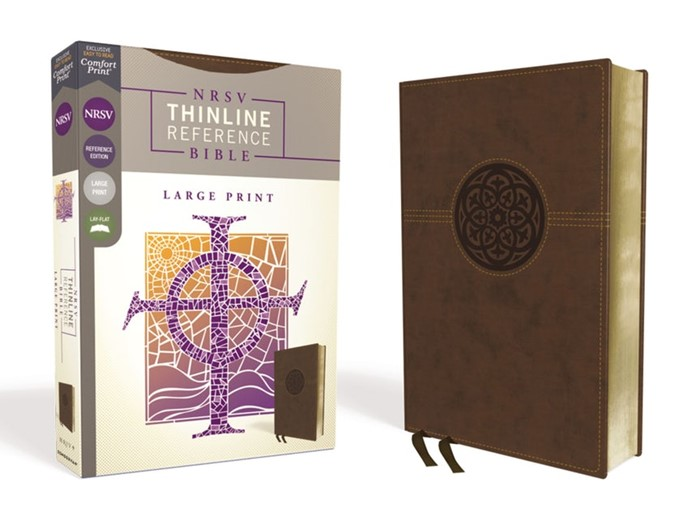 NRSV Large Print Thinline Reference Bible, Brown