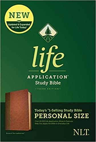NLT Life Application Study Bible, Third Edition, Brown