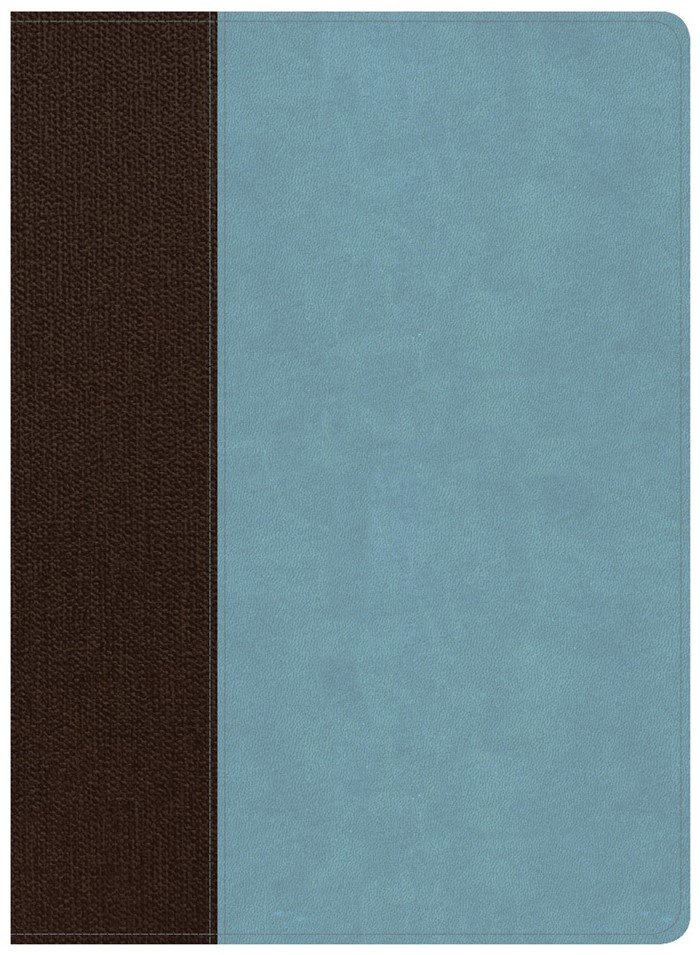 CSB Life Essentials Study Bible, Brown/Sky LeatherTouch