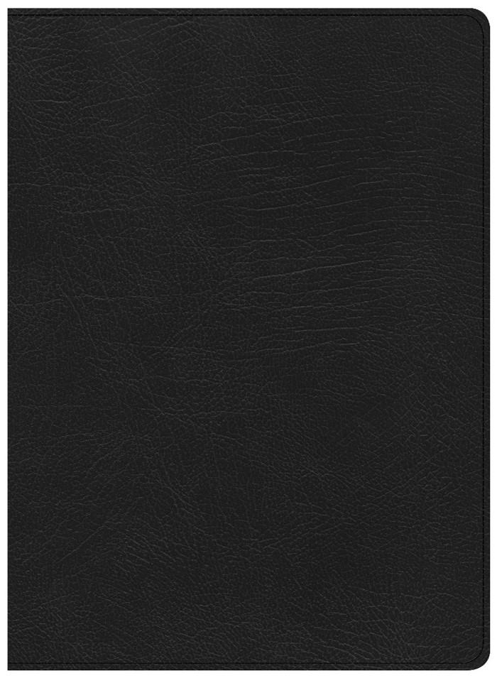 CSB Life Essentials Study Bible, Black Genuine Leather