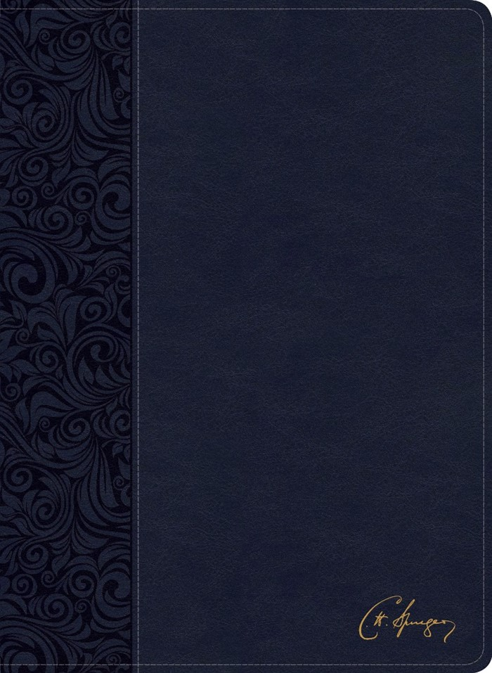 CSB Spurgeon Study Bible, Navy LeatherTouch