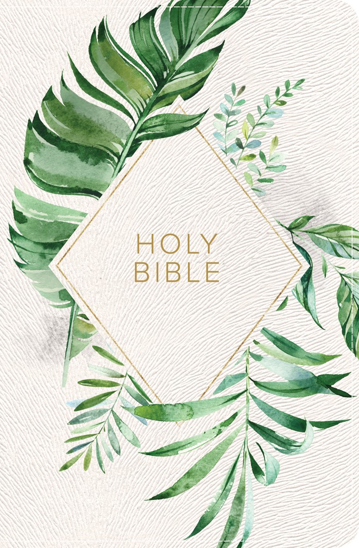 CSB On-the-Go Bible, White Floral Textured LeatherTouch
