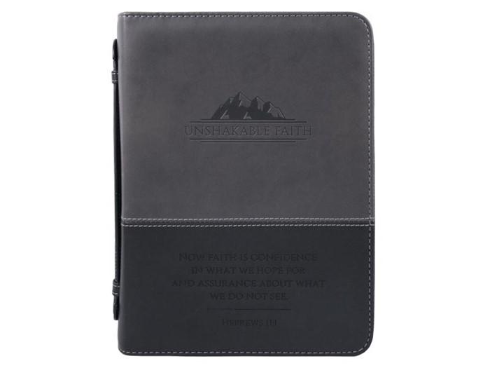 Bible Cover Unshakable Faith Imitation Leather, Large