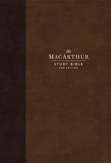 NKJV MacArthur Study Bible Bible, Brown, Indexed