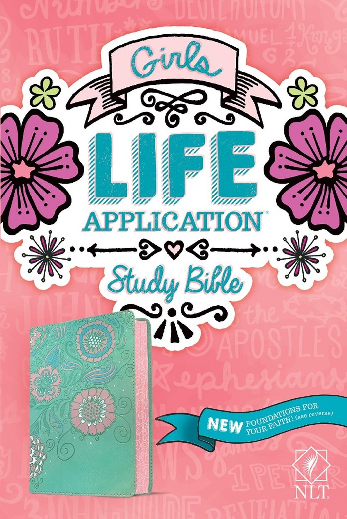 NLT Girls Life Application Study Bible, Teal/Pink