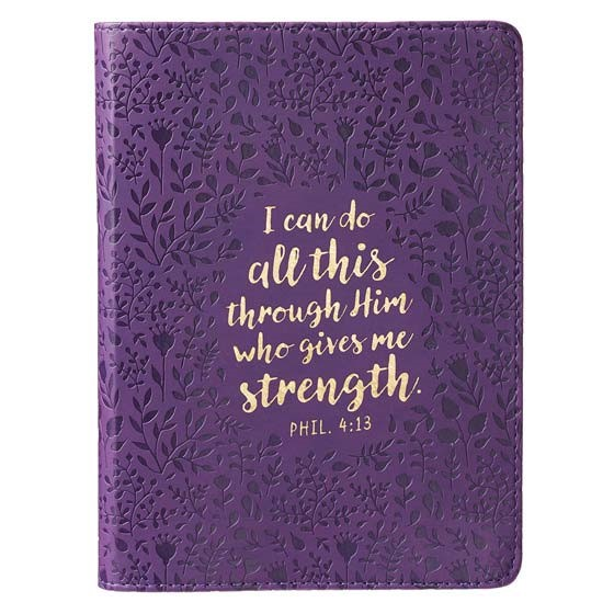 Journal: Philippians 4:13 Purple I Can Do All Things