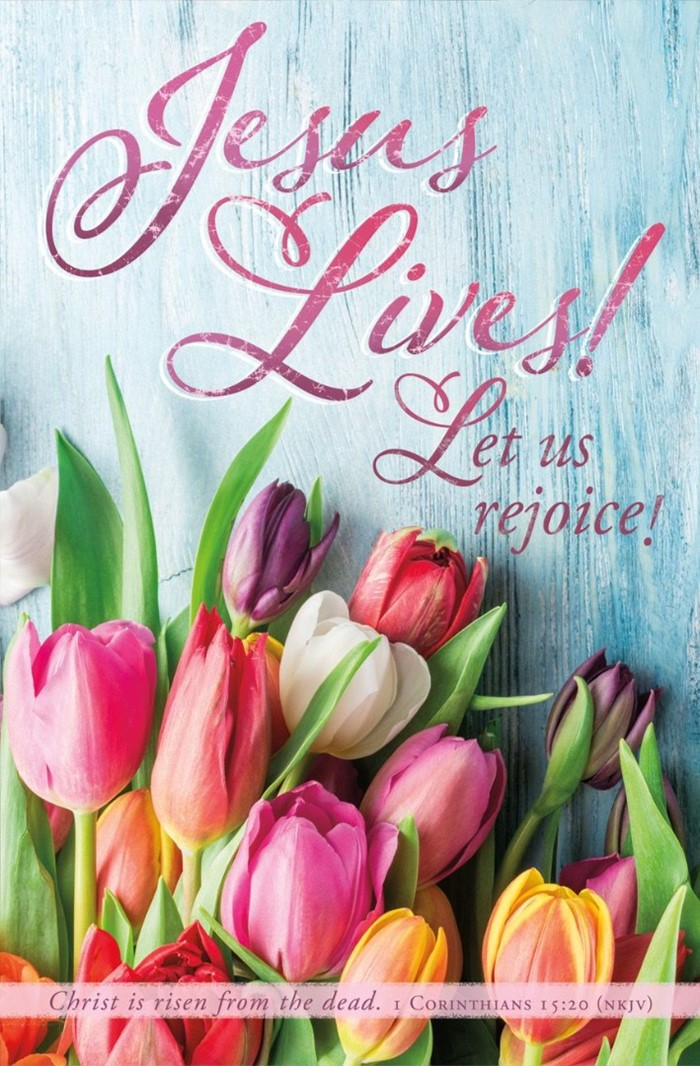 Jesus Lives! Easter Bulletin (pack of 100)