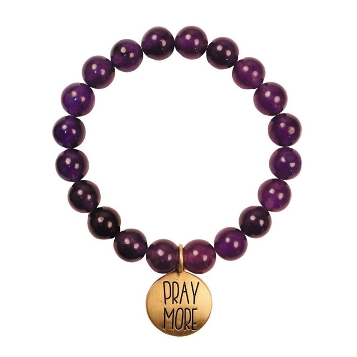 Pray More Faith Gear Bracelet
