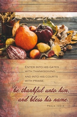 Enter Into His Gates With Thanksgiving Bulletin (100 pack)