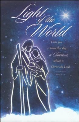 Light of the World Christmas Bulletin (pack of 100)