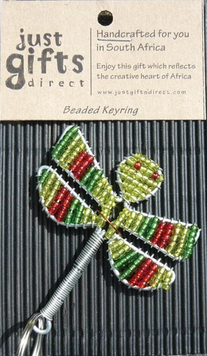 Beaded Dragonfly Keyring