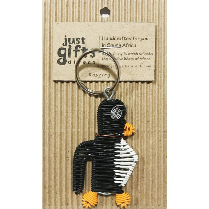 Wire Penguin Keyring