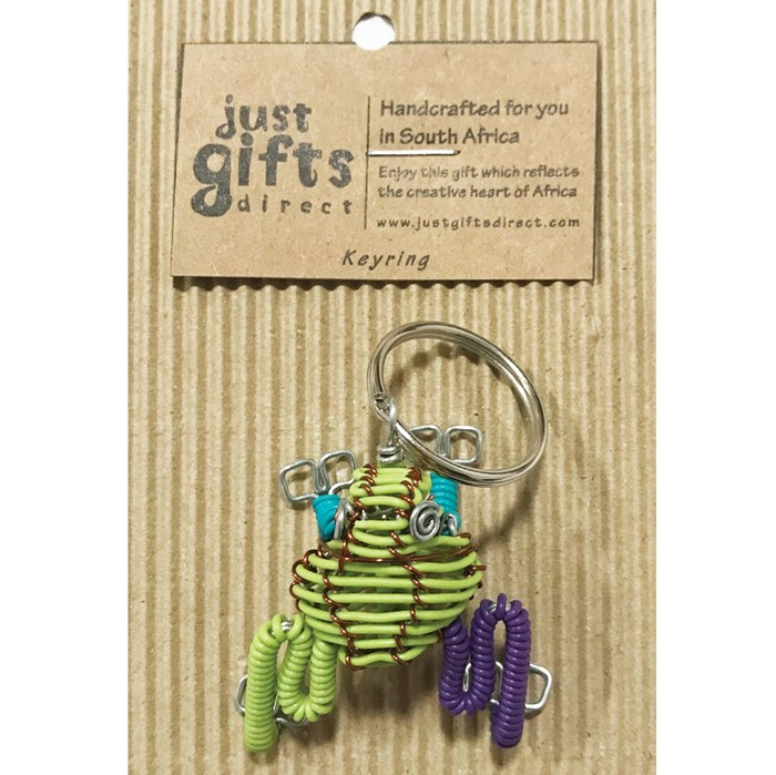 Wire 3D Frog Keyring