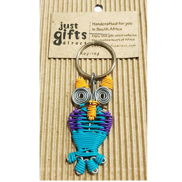 Wire Owl Keyring