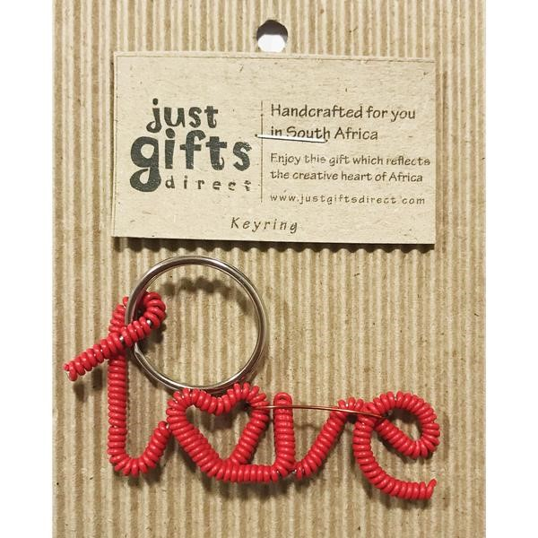 Wire Love keyring