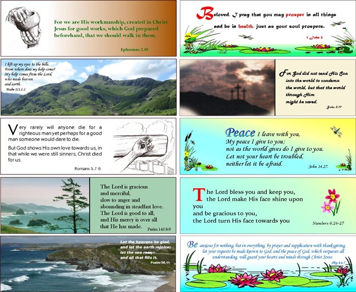 48 Assorted Evangelistic and Encouraging Bookmarks