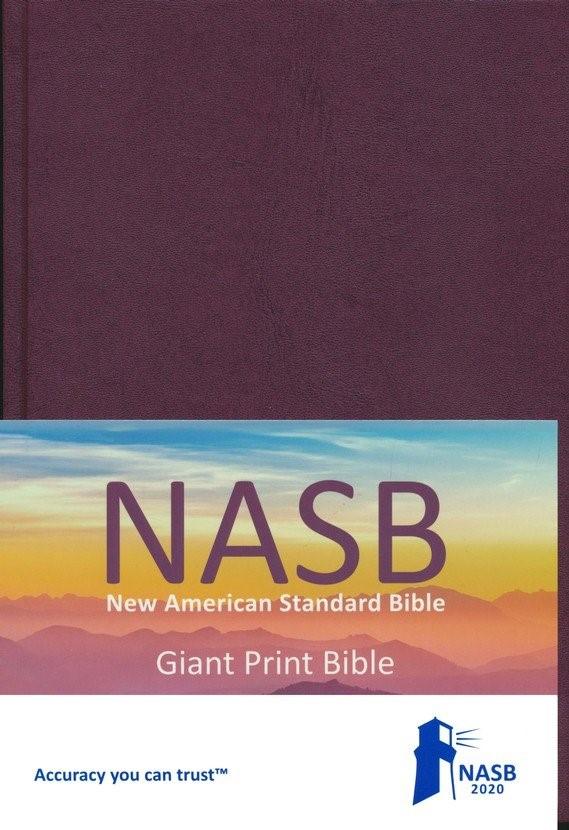 NASB 2020 Giant Print Text Bible, Hardcover