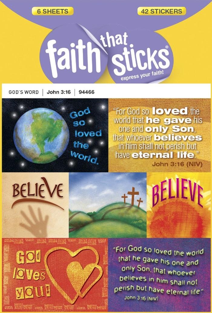 John 3:16 - Faith That Sticks Stickers