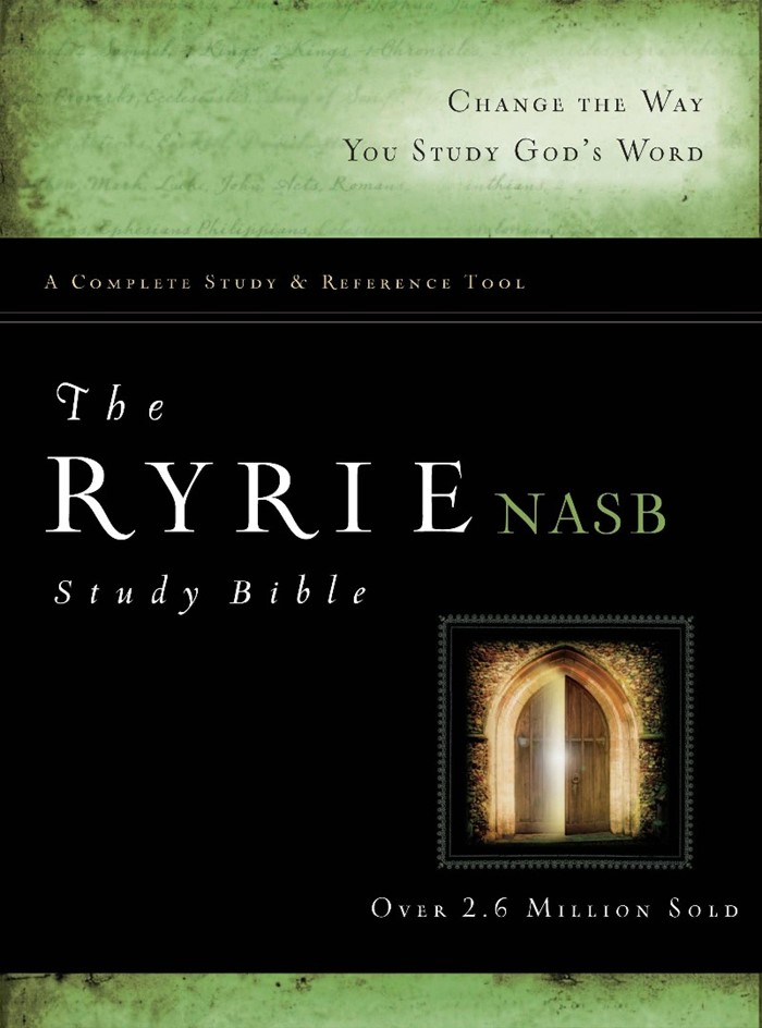 The NAS Ryrie Study Bible Hardback Red Letter