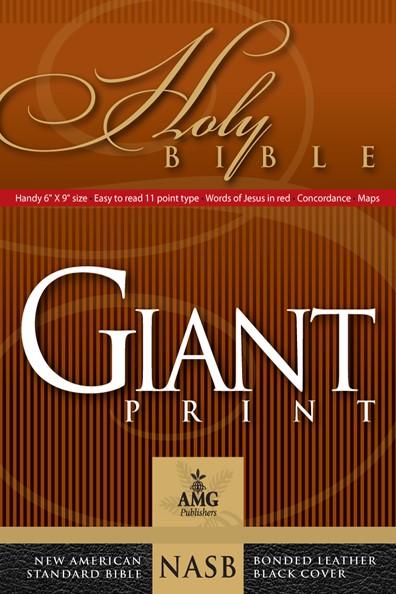 NASB Giant Print Handy-Size Reference Bible, Black