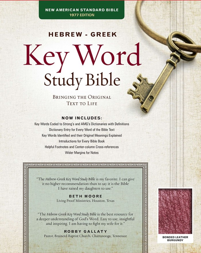 NASB Hebrew-Greek Key Word Study Bible BL Burgundy Indexed