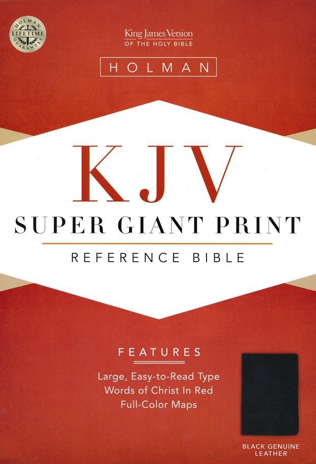 KJV Super Giant Print Reference Bible, Black Leather