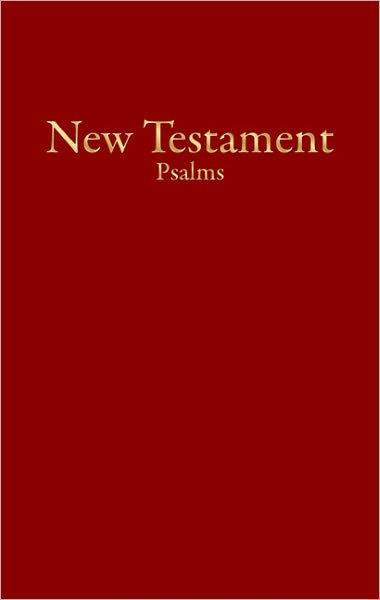 KJV Economy New Testament With Psalms, Burgundy