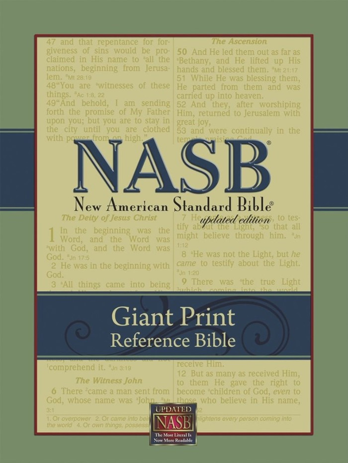 NASB Giant-Print Reference Bible