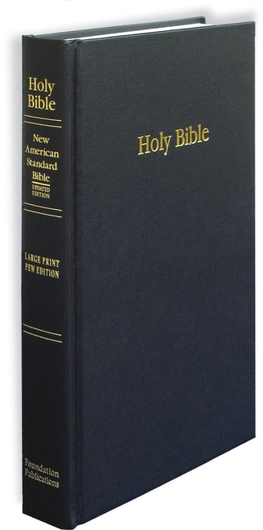 NASB Large Print Pew Bible