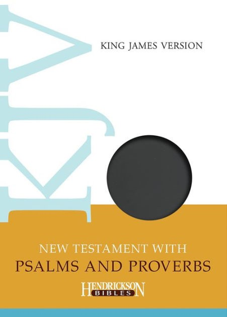 KJV New Testament with Psalms and Proverbs, Black