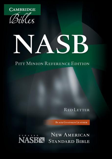 NASB Pitt Minion Reference Bible, Black Goatskin Leather