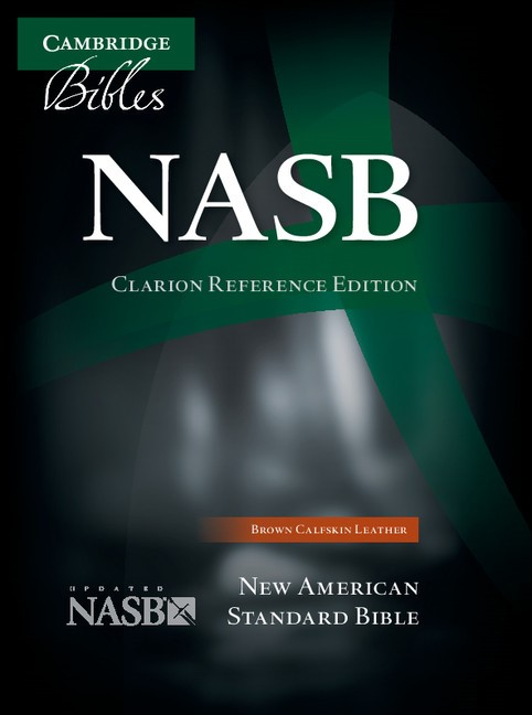 NASB Clarion Reference Bible, Brown Calfskin Leather