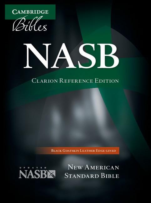 NASB Clarion Reference Bible, Black Goatskin Leather