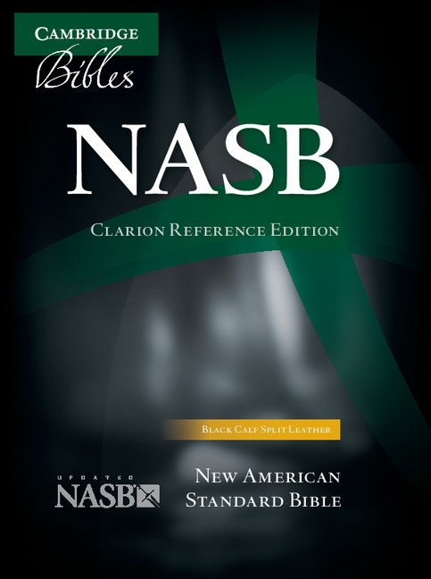 NASB Clarion Reference Bible, Black Calf Split Leather